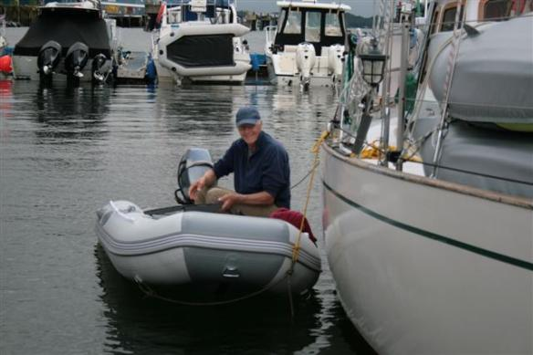 Last but surely not least,Bert is his new dinghy!!!!!