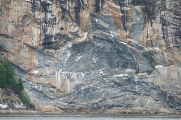 Rock wall, at the entrance to Simoom Sound.