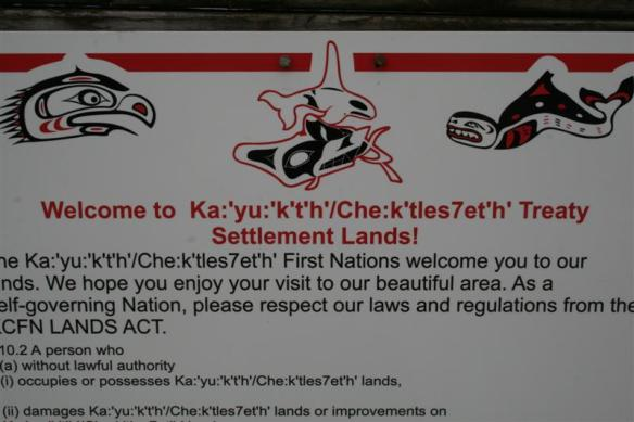 First Nation notice.