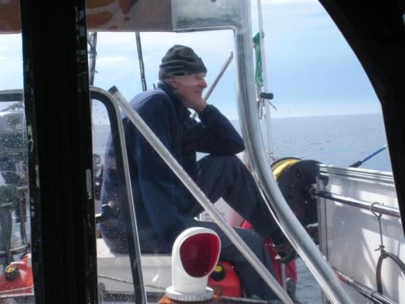 Skipper enjoying himself.