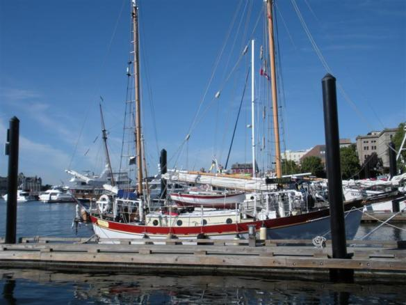 One of the beautiful sailboats in the harbour.
