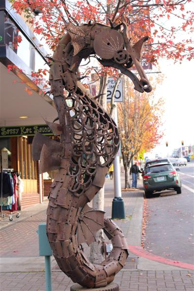 seahorse on the street in port angeles