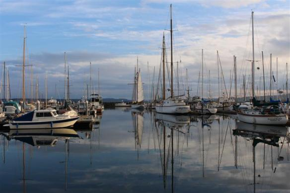 port townsend harbor, beautiful day for photos