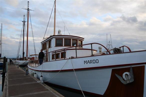 mv mardo, i cannot tell you must about her, all the notes i wrote have disappeared, but she was built in the early 1900's, and fully restored in 2009 and 2010.  all i can do is show you the photos of her, she is a beauty