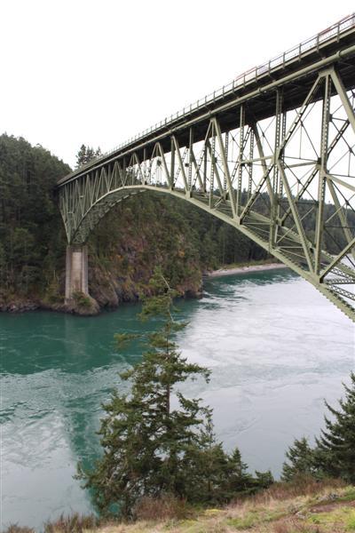 Bridge over the pass.