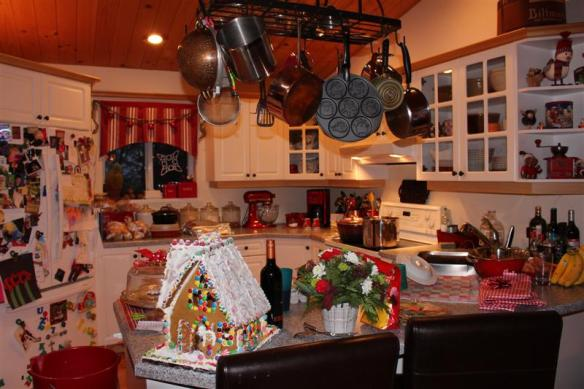 Christmas kitchen at the Stevenson home.