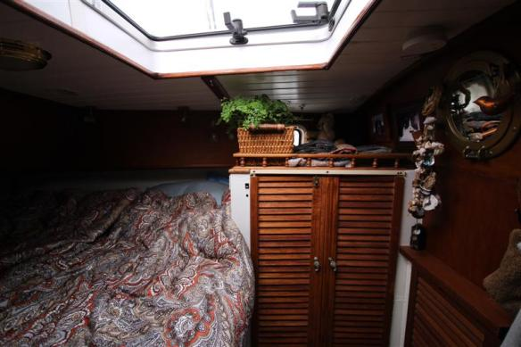 Aft cabin, with queen size bed and closet.