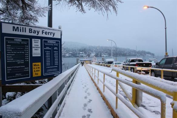 Brentwood bay,Mill bay ferry dock.