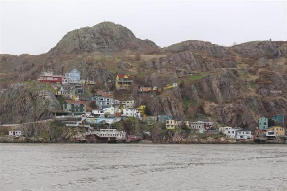 Looking at the Battery, a small settlement ,right inside the St.John's harbor.