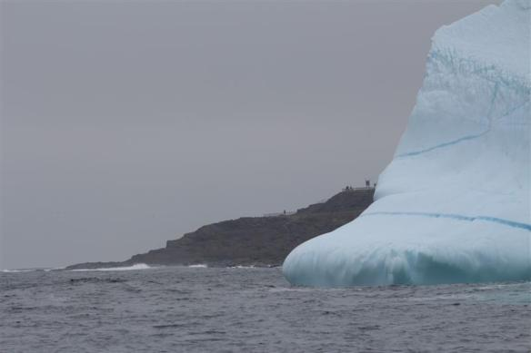 This berg rests in water, 80 meters deep,just to give an idea how much ice is down below!
