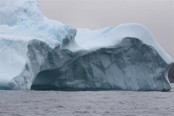 Close up, i could hear the gasses escaping from the melting ice.