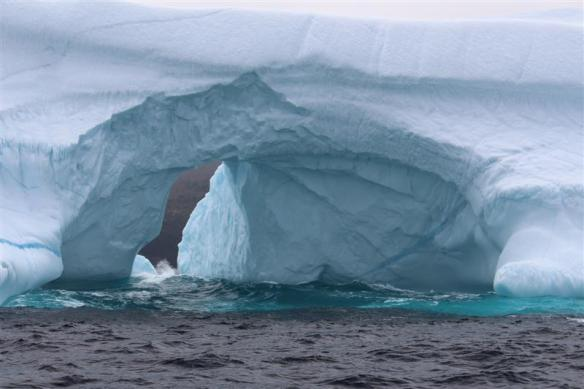 Grotto in an iceberg.