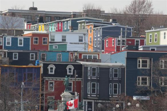 The famous colored houses of St.John's.