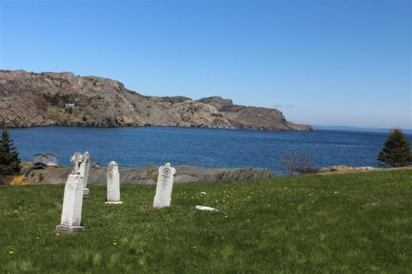 Most of the old cemeteries overlook the ocean, some of these gravestones date back to the late 1700's