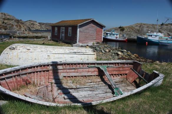 At the harbor of Brigus, historic town at the east coast of the Avalon Peninsula
