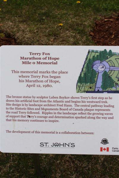 Terry Fox memorial.
