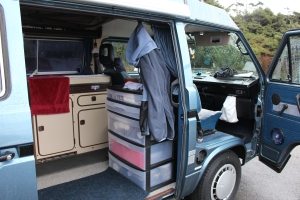 inside the Westfalia