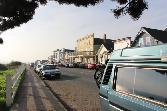 one of Mendocino's picturesque streets.