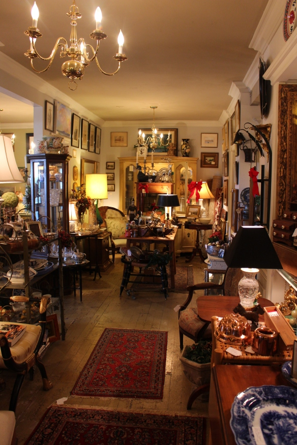 inside the antique shop
