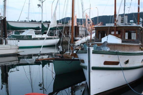 wooden boats waiting for new wood, paint and brass