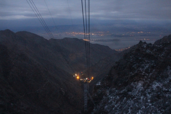Looking down at Palm Springs