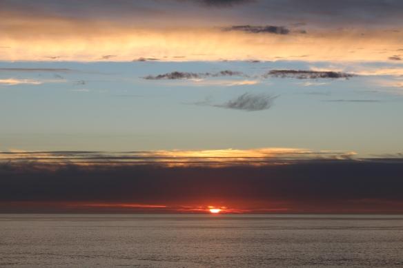 California sunset.
