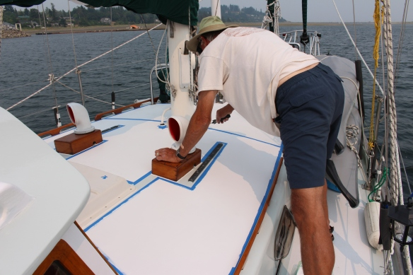 Bert does an awesome job, using marine,Interlux paint.