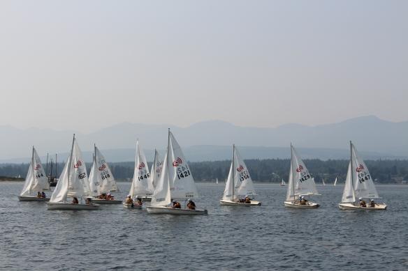 Sailing practice in Comox bay.