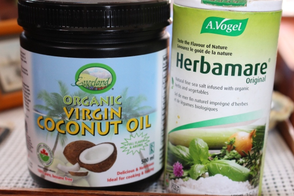 products i use, i dont use the coconut oil for the kale chips, but do use it for cooking and baking.