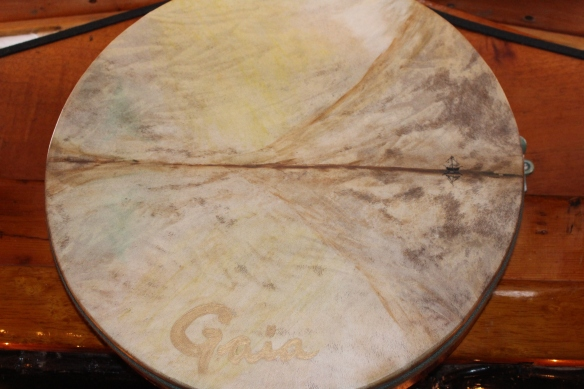 A drum, i believe made for Nancy, look at the tiny sail boat detail.