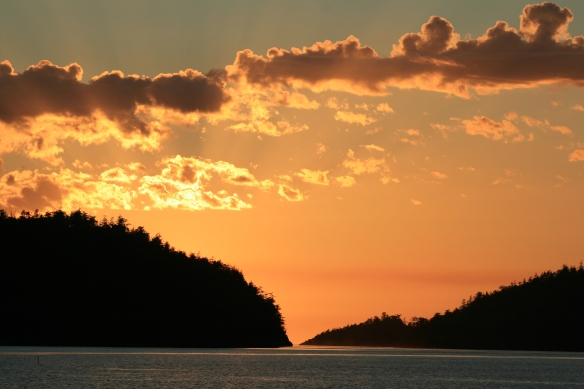 Pender Harbour sunset.