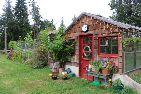 Most wonderful garden shed, at Karen's house.