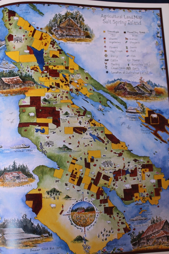 This page shows the beautiful map of Saltspring Island.