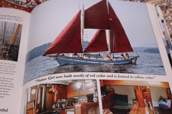 """One page out of the book:Tiny Homes on the Move, by Lloyd Kahn.  He talks about  Sailing Vessel """"Native Girl"""", she was built by Allen Farrell, who is very well known here , in Pender harbour."""