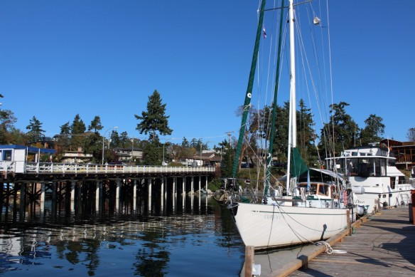 Curtsy at the main dock,ferry dock to the left.