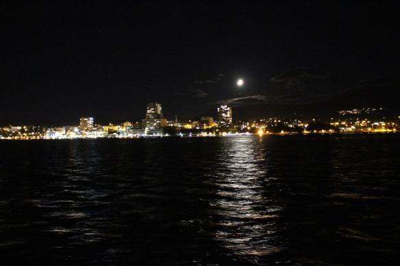 The best i could do , being on board of a boat, not much use for a tripod.......Night time over Nanaimo!!