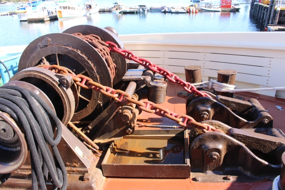 Anchoring equipment.