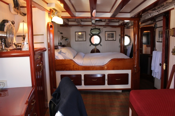 Beautiful cabin  on board of Pacific Yellowfin.