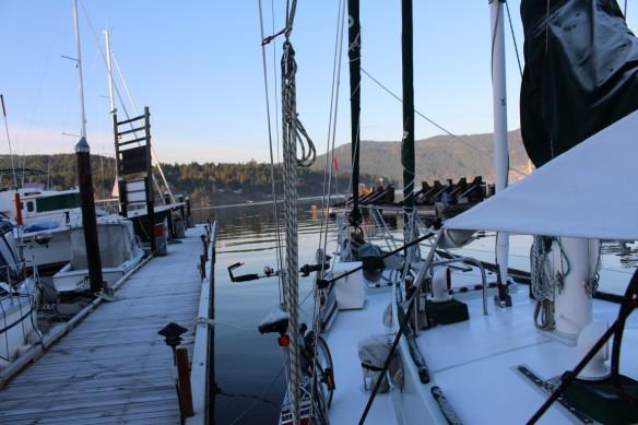 Icy docks.